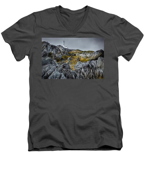 Nova Scotia's Rocky Shore Men's V-Neck T-Shirt