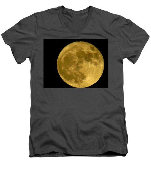 November Full Moon Men's V-Neck T-Shirt