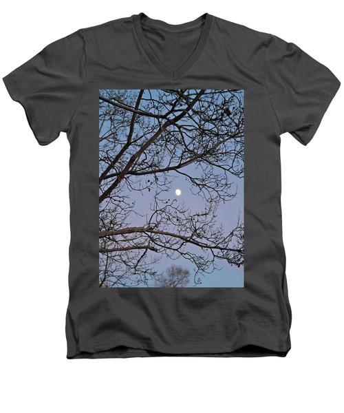 November Moon Men's V-Neck T-Shirt