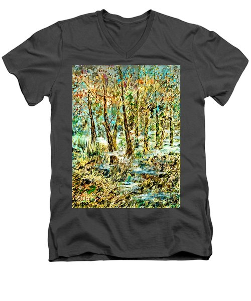 November Morn Men's V-Neck T-Shirt by Alfred Motzer
