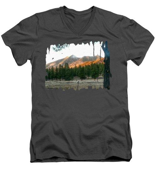 November Sunset On Sf Peaks Men's V-Neck T-Shirt