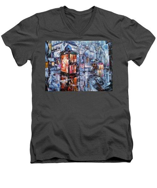 November Walk II Men's V-Neck T-Shirt