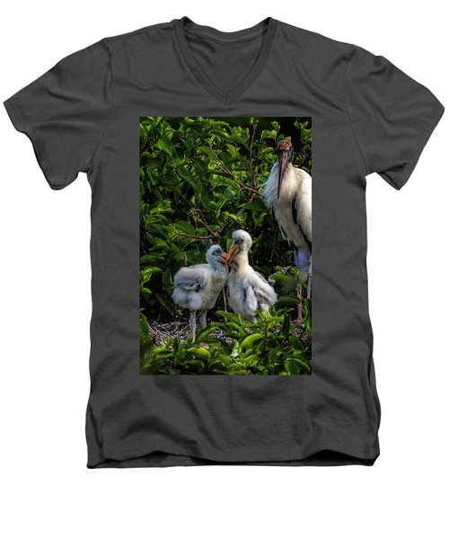 Now, Children... Men's V-Neck T-Shirt by Cyndy Doty