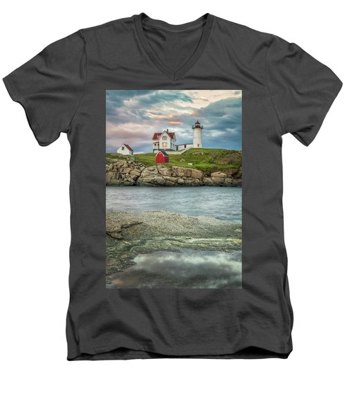 Nubble Light Men's V-Neck T-Shirt by Brian Caldwell