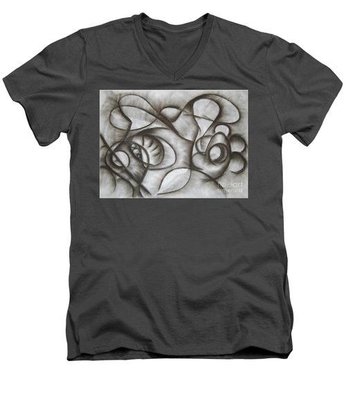 Nucleus Of Time Men's V-Neck T-Shirt