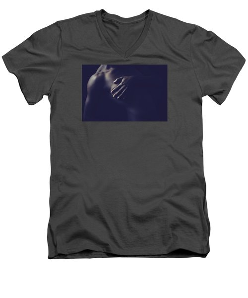 Nude Form Men's V-Neck T-Shirt by Scott Meyer