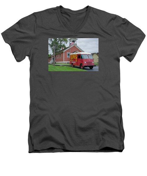 Nueske Meat Store Men's V-Neck T-Shirt by Susan  McMenamin