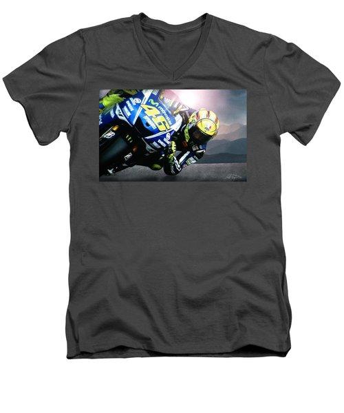 Number 46 Men's V-Neck T-Shirt by Bill Stephens