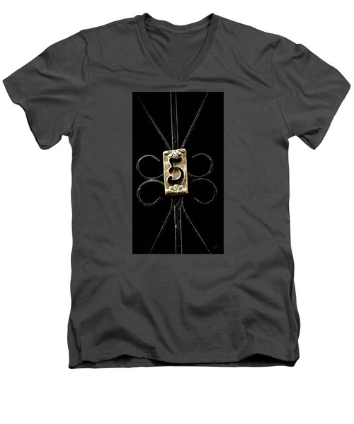 Number 5 Men's V-Neck T-Shirt