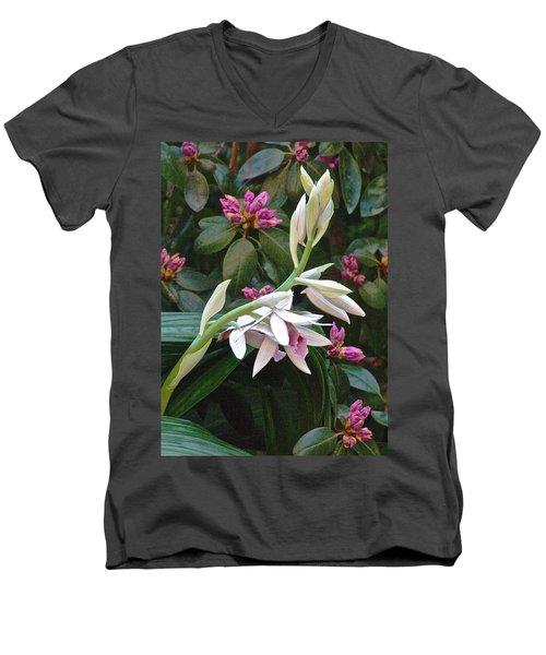 Nun Orchid Men's V-Neck T-Shirt