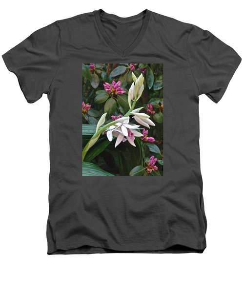 Nun Orchid Men's V-Neck T-Shirt