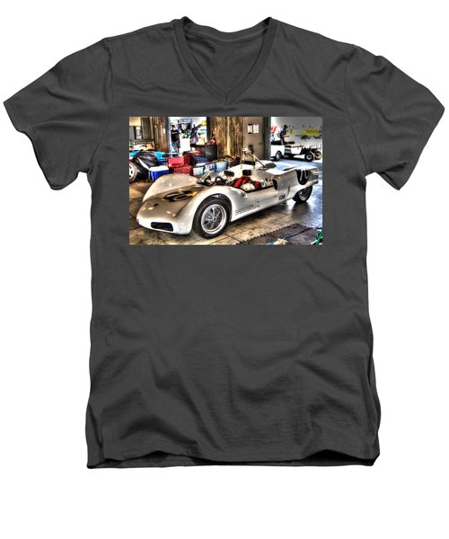 Nurburgring Men's V-Neck T-Shirt by Josh Williams