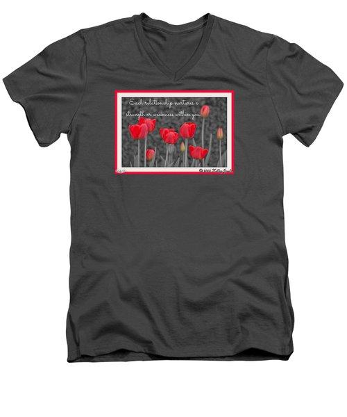 Nurtures Strength Men's V-Neck T-Shirt