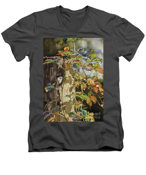 Nuthatch And Creeper Men's V-Neck T-Shirt