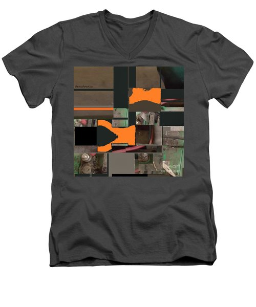 Nuts And Bolts Men's V-Neck T-Shirt by Andrew Drozdowicz