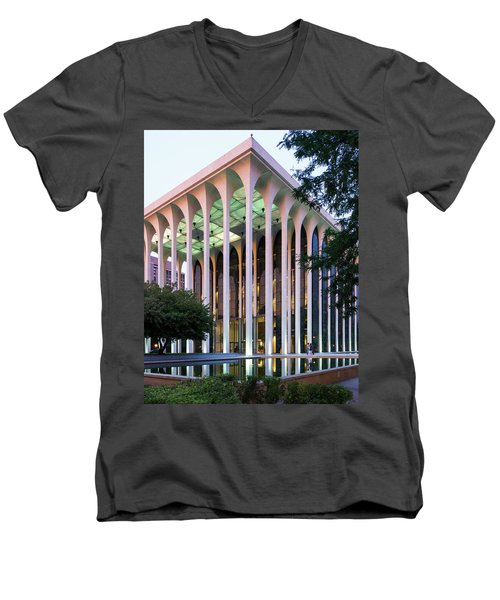 Nwnl Building At Dusk Men's V-Neck T-Shirt