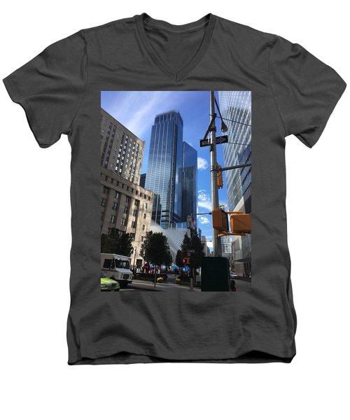 Nyc Day Men's V-Neck T-Shirt