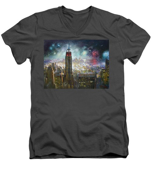Nyc. Empire State Building Men's V-Neck T-Shirt