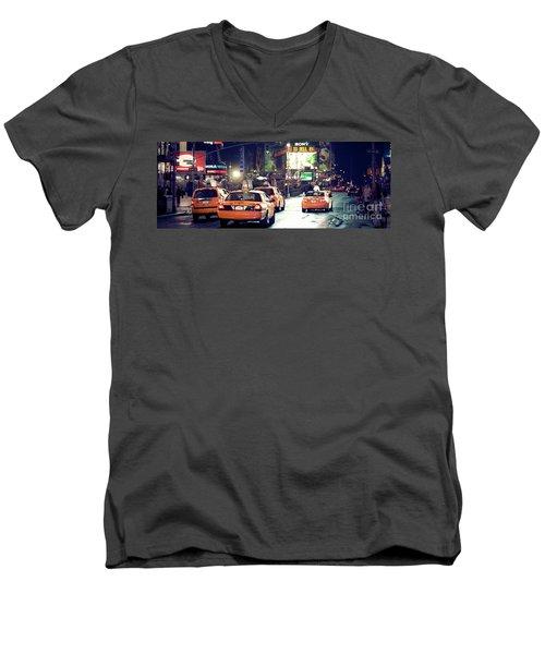 New York City Night Drive Men's V-Neck T-Shirt