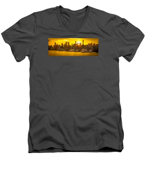 Nyc Ports Men's V-Neck T-Shirt