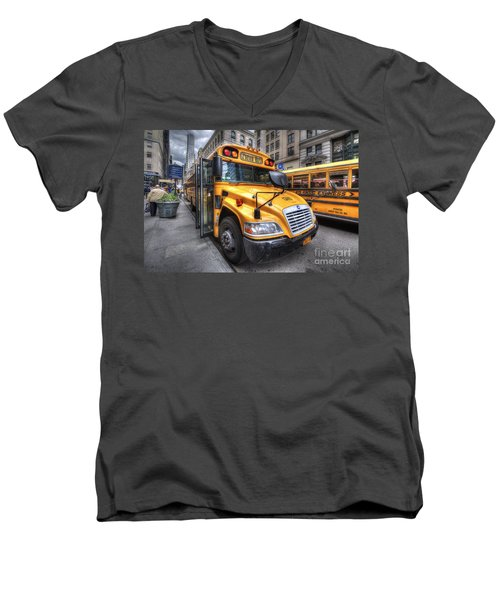 Nyc School Bus Men's V-Neck T-Shirt