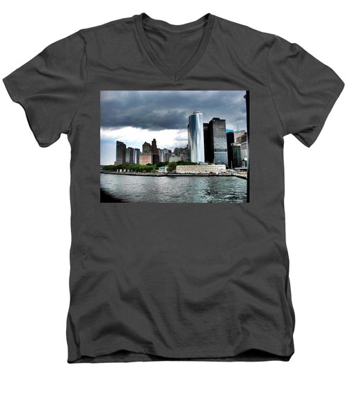 Nyc3 Men's V-Neck T-Shirt by Donna Andrews