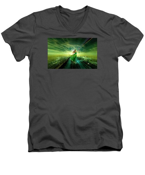 Nymph Of July Men's V-Neck T-Shirt
