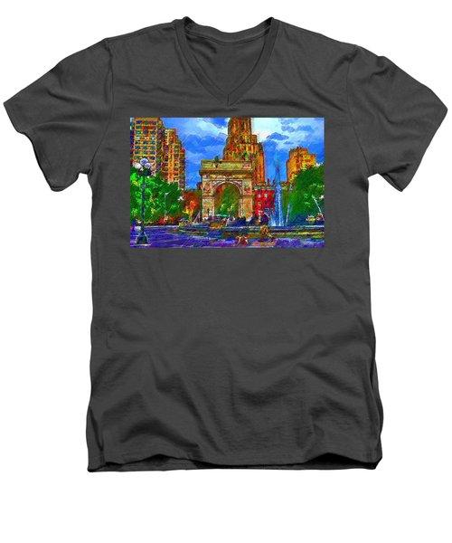 NYU Men's V-Neck T-Shirt