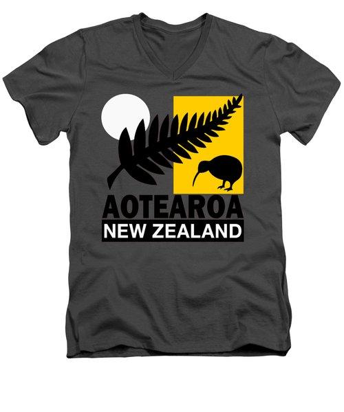 Nz-new Zealand Men's V-Neck T-Shirt