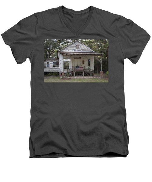 O K Zeaglers Mercantile And Post Office Men's V-Neck T-Shirt by Suzanne Gaff