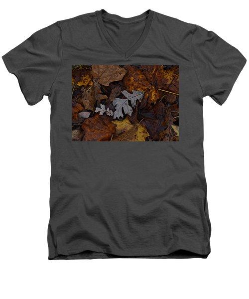 Oak And Maple Leaves Men's V-Neck T-Shirt by Tim Good