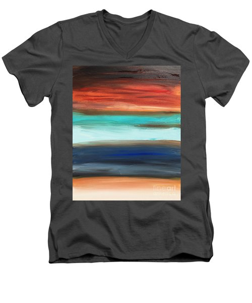 Oak Creek #28 Southwest Landscape Original Fine Art Acrylic On Canvas Men's V-Neck T-Shirt