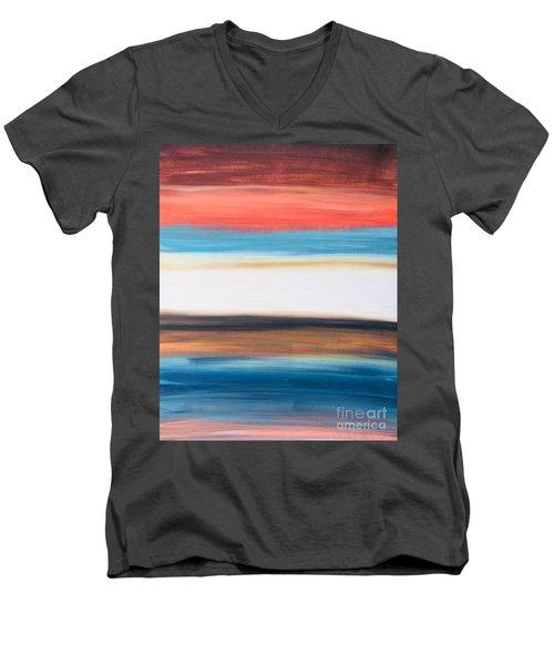 Oak Creek #29 Southwest Landscape Original Fine Art Acrylic On Canvas Men's V-Neck T-Shirt