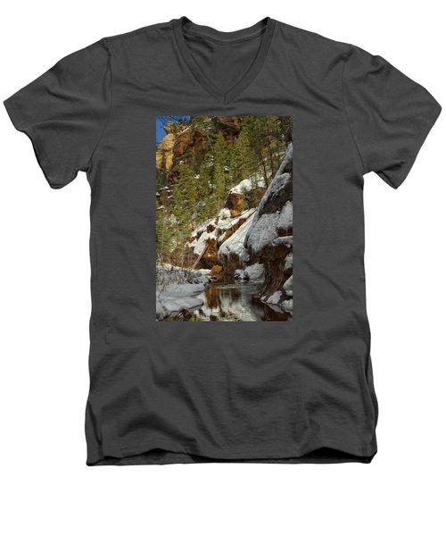 Oak Creek Beckons Men's V-Neck T-Shirt by Tom Kelly