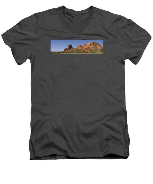 Oak Creek Panorama In Red Men's V-Neck T-Shirt