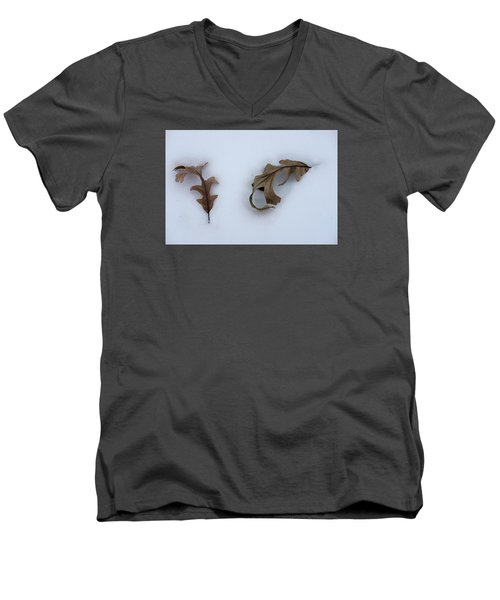 Oak Leaves Men's V-Neck T-Shirt