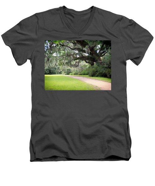 Oak Over The Trail Men's V-Neck T-Shirt