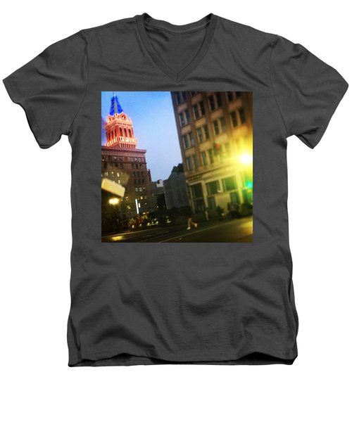 Oakland Lights Men's V-Neck T-Shirt