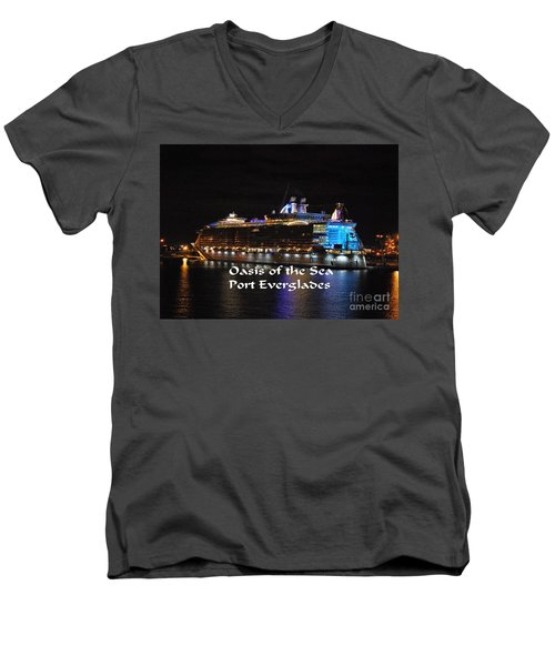 Oasis Of The Seas Men's V-Neck T-Shirt by Gary Wonning