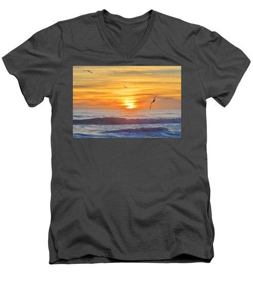 Coquina Beach Men's V-Neck T-Shirt