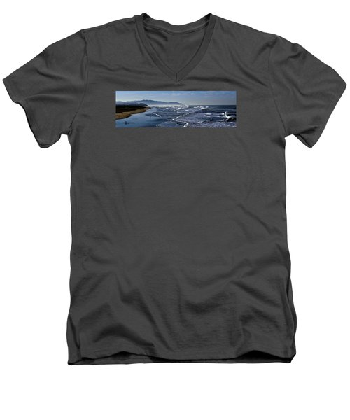 Men's V-Neck T-Shirt featuring the photograph Ocean Beach San Francisco by Steve Siri