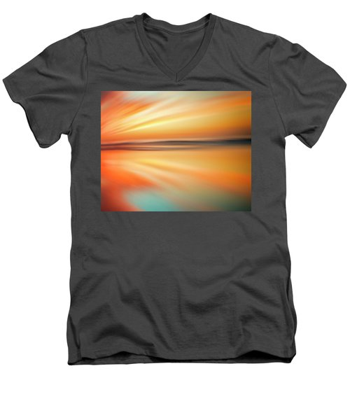 Ocean Beach Sunset Abstract Men's V-Neck T-Shirt