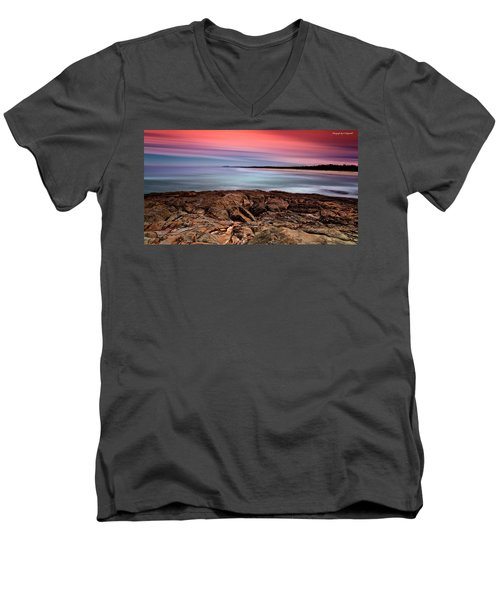 Ocean Beauty 6666 Men's V-Neck T-Shirt by Kevin Chippindall