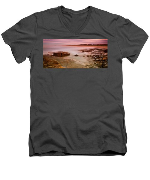 Ocean Beauty 801 Men's V-Neck T-Shirt by Kevin Chippindall