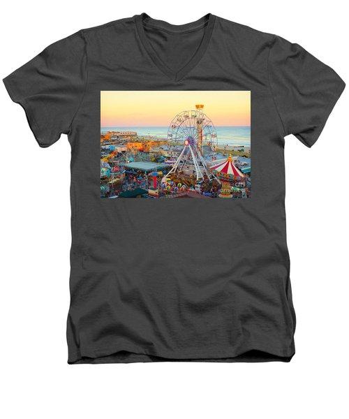 Ocean City New Jersey Boardwalk And Music Pier Men's V-Neck T-Shirt