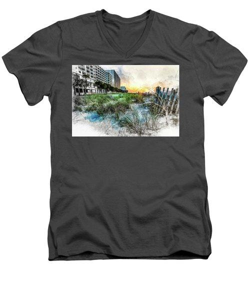 Ocean Drive Easter Sunrise Men's V-Neck T-Shirt