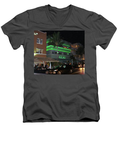 Ocean Drive Miami Beach Men's V-Neck T-Shirt