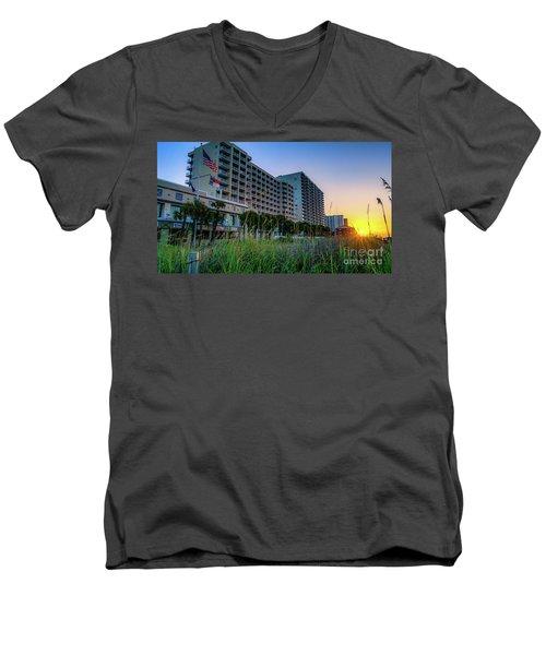 Ocean Drive Sunrise North Myrtle Beach Men's V-Neck T-Shirt