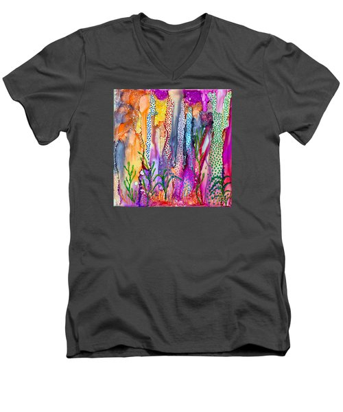 Ocean Floor Men's V-Neck T-Shirt by Alene Sirott-Cope