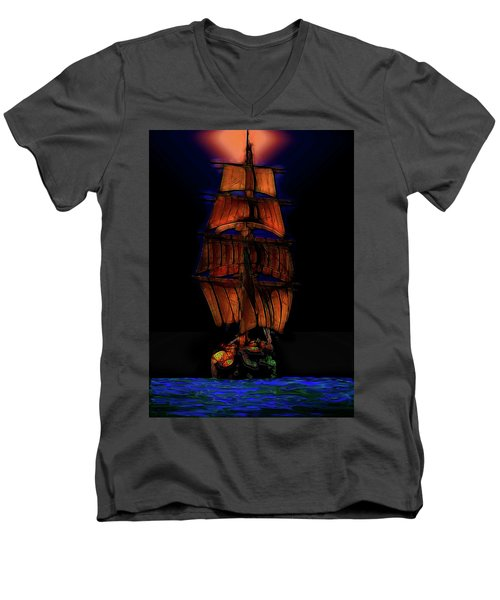 Ocean Glow Men's V-Neck T-Shirt